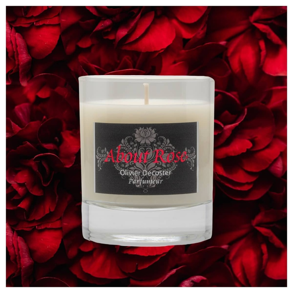 About Rose Love Letters Candle 150g