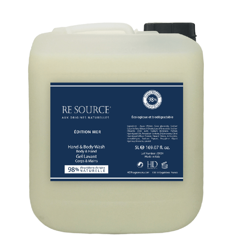 RE SOURCE 5L Gel Lavant Mains et Corps Édition Mer